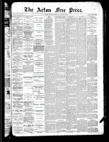 Acton Free Press (Acton, ON)17 Jan 1889