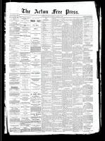 Acton Free Press (Acton, ON)1 Aug 1889
