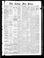 Acton Free Press (Acton, ON), August 8, 1889