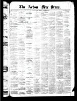 Acton Free Press (Acton, ON), September 26, 1889
