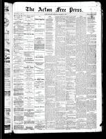 Acton Free Press (Acton, ON), October 31, 1889