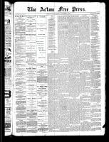 Acton Free Press (Acton, ON), November 21, 1889