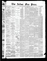 Acton Free Press (Acton, ON)28 Nov 1889
