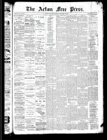 Acton Free Press (Acton, ON)19 Dec 1889