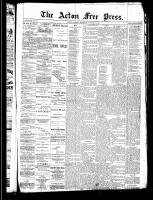 Acton Free Press (Acton, ON)30 Jan 1890