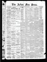 Acton Free Press (Acton, ON)24 Apr 1890