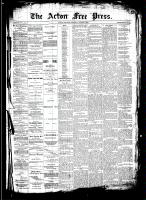 Acton Free Press (Acton, ON)7 Aug 1890