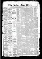 Acton Free Press (Acton, ON), August 21, 1890