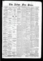 Acton Free Press (Acton, ON), October 9, 1890