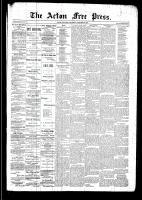 Acton Free Press (Acton, ON), October 30, 1890
