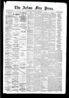 Acton Free Press (Acton, ON), November 6, 1890