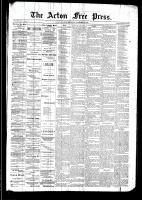 Acton Free Press (Acton, ON), November 20, 1890