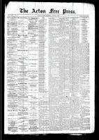 Acton Free Press (Acton, ON)1 Jan 1891