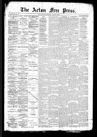 Acton Free Press (Acton, ON)29 Jan 1891