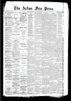 Acton Free Press (Acton, ON)19 Mar 1891