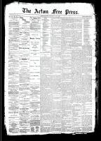 Acton Free Press (Acton, ON)7 May 1891