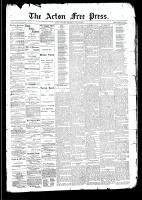 Acton Free Press (Acton, ON)21 May 1891