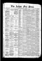 Acton Free Press (Acton, ON)20 Aug 1891