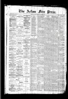 Acton Free Press (Acton, ON), October 8, 1891