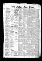 Acton Free Press (Acton, ON)15 Oct 1891