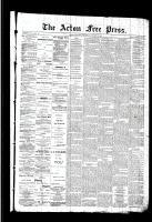 Acton Free Press (Acton, ON), October 22, 1891