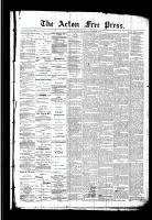 Acton Free Press (Acton, ON)5 Nov 1891