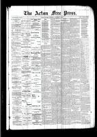 Acton Free Press (Acton, ON)17 Nov 1892