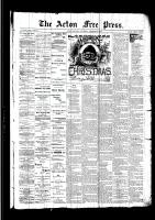 Acton Free Press (Acton, ON)22 Dec 1892