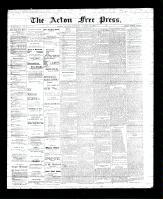 Acton Free Press (Acton, ON), October 26, 1893