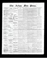 Acton Free Press (Acton, ON), November 9, 1893