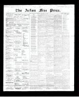 Acton Free Press (Acton, ON)18 Jan 1894