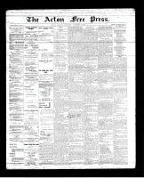 Acton Free Press (Acton, ON), November 8, 1894
