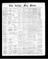 Acton Free Press (Acton, ON)10 Jan 1895