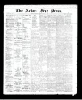 Acton Free Press (Acton, ON)2 May 1895