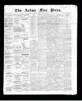 Acton Free Press (Acton, ON)8 Aug 1895