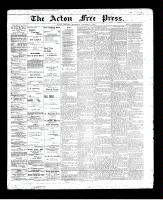 Acton Free Press (Acton, ON)7 Nov 1895