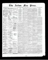 Acton Free Press (Acton, ON), October 29, 1896