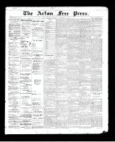 Acton Free Press (Acton, ON)5 Nov 1896