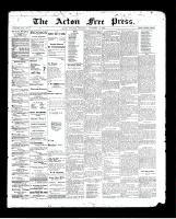 Acton Free Press (Acton, ON), November 19, 1896