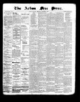 Acton Free Press (Acton, ON), November 4, 1897