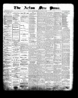 Acton Free Press (Acton, ON), January 6, 1898