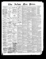 Acton Free Press (Acton, ON)10 Aug 1899