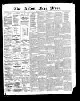 Acton Free Press (Acton, ON), August 31, 1899