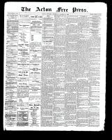 Acton Free Press (Acton, ON)12 Oct 1899