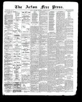 Acton Free Press (Acton, ON), October 26, 1899