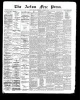 Acton Free Press (Acton, ON), November 2, 1899