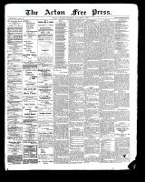 Acton Free Press (Acton, ON), November 9, 1899