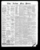 Acton Free Press (Acton, ON), November 16, 1899