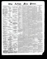 Acton Free Press (Acton, ON), November 23, 1899