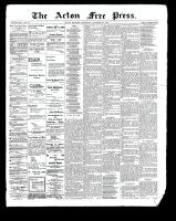 Acton Free Press (Acton, ON), December 28, 1899